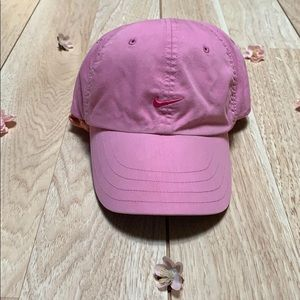Nike Youth Pink Ball Cap w Hot Pink Swoosh Front
